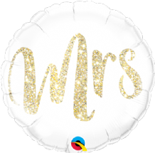 "Mrs Glitter Gold Foil Balloon (18"") 1pc"
